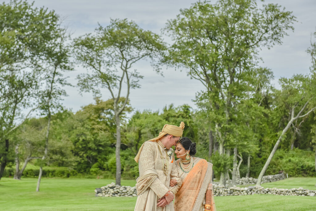 indian wedding at Portsmouth Abbey in RI